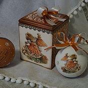 """Для дома и интерьера ручной работы. Ярмарка Мастеров - ручная работа Шкатулка """"Новогодний подарок"""". Handmade."""