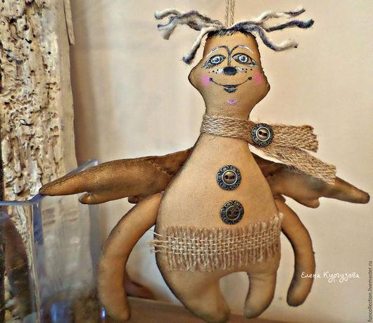 Куклы и игрушки ручной работы. Ярмарка Мастеров - ручная работа. Купить Чердачный ангел Саввушка.. Handmade. Коричневый, подарок на новый год
