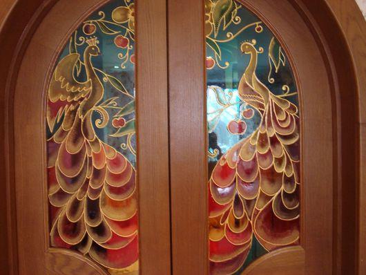 Декор поверхностей ручной работы. Ярмарка Мастеров - ручная работа. Купить роспись арочных дверей. Handmade. Комбинированный, краски по стеклу