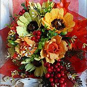 Цветы и флористика ручной работы. Ярмарка Мастеров - ручная работа Ручной букет с герберами. Handmade.