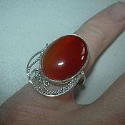 Украшения handmade. Livemaster - original item Ring CARNELIAN,filigree 925 sterling silver.. Handmade.