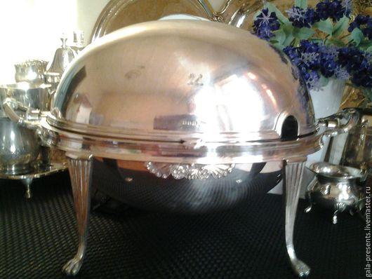 Винтажная посуда. Ярмарка Мастеров - ручная работа. Купить -10% Раритет W&H 1890e Антикварное поворотное блюдо Buffet roll Aнглия. Handmade.
