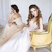 Свадебный салон ручной работы. Ярмарка Мастеров - ручная работа Корсетное свадебное платье Рассвет. Handmade.