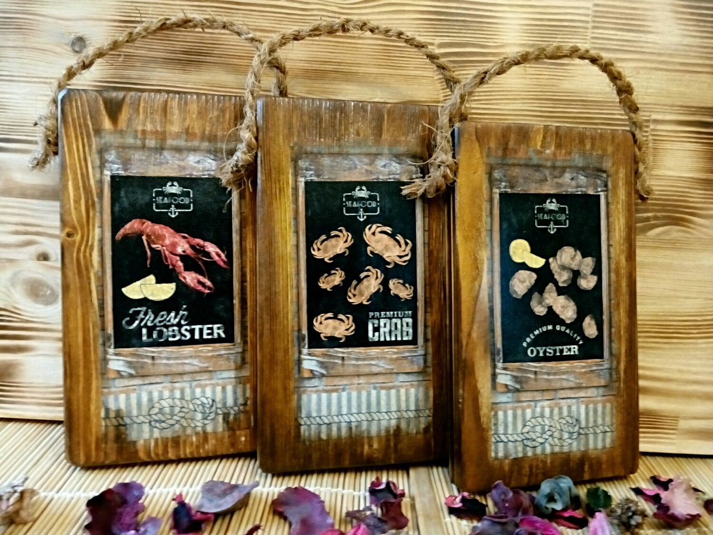 Historias fantásticas manualidades. Livemaster - hecho a mano. Comprar Paneles brashirovannye Marina trío. HandmadeRustic style, panels