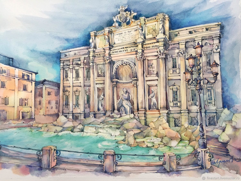 Италия в картинках нарисованная, открытку картинки доброе