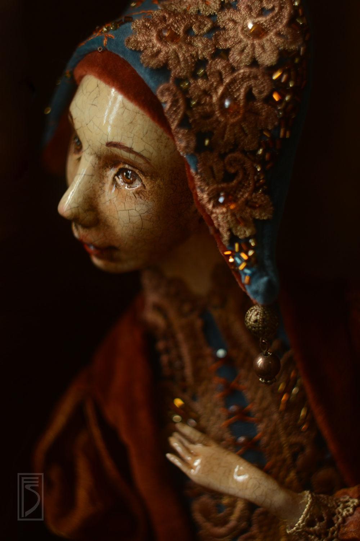 Куклы и игрушки ручной работы. Ярмарка Мастеров - ручная работа. Купить за кулисами. Handmade. Коллекционная кукла, золотой, кожа