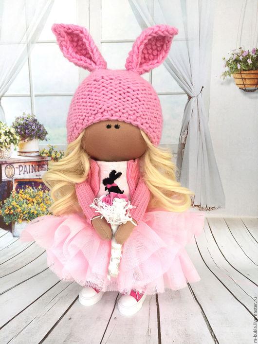 Куклы тыквоголовки ручной работы. Ярмарка Мастеров - ручная работа. Купить Романтичная малышка. Handmade. Бледно-розовый, кукла текстильная