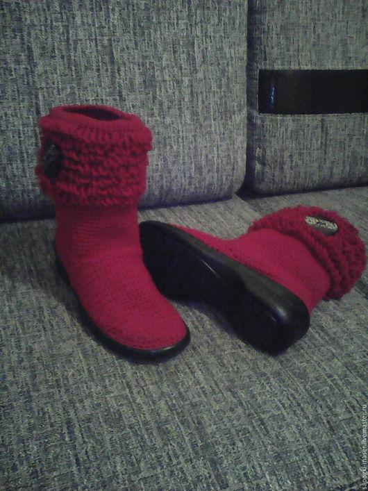 Обувь ручной работы. Ярмарка Мастеров - ручная работа. Купить Вязаная обувь. Сапоги. Вязаные сапоги. Сапожки вязаные. Handmade.