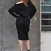 Одежда handmade. Livemaster - original item Black long sleeve dress-DR0307TR. Handmade.