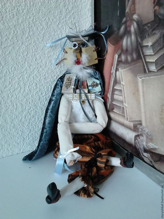 """Коллекционные куклы ручной работы. Ярмарка Мастеров - ручная работа. Купить Будуарная кукла-портрет """"Библиотекарь""""  Джузеппе Арчимбольдо. Handmade."""