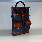 Сумки и аксессуары handmade. Livemaster - original item Backpack-leather bag 93. Handmade.