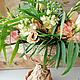 Бежево-персиковый букет из живых цветов