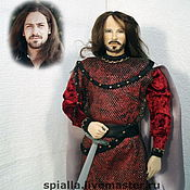 """Куклы и игрушки ручной работы. Ярмарка Мастеров - ручная работа """"Мой рыцарь"""" портретная кукла. Handmade."""