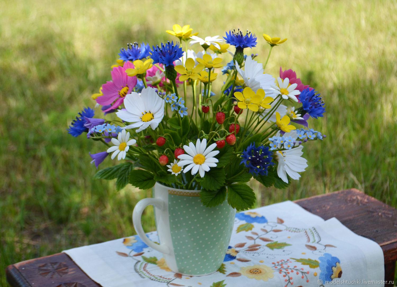 Картинки из букетов полевых цветов