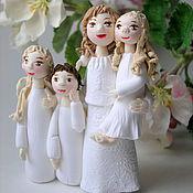 Подарки к праздникам ручной работы. Ярмарка Мастеров - ручная работа Ангел мама с 3-мя детьми. Handmade.