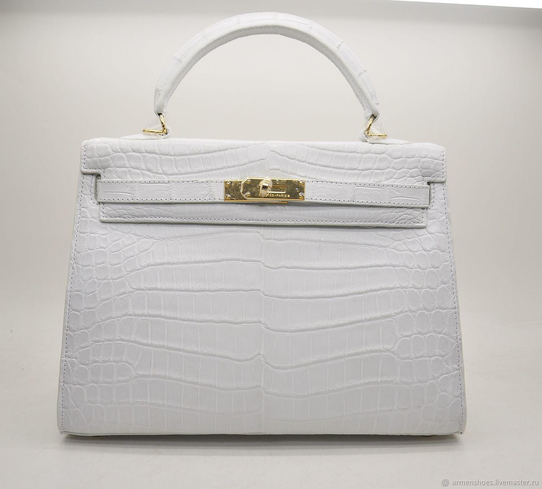 Classic women's bag, made of Himalayan crocodile leather, Classic Bag, Tosno,  Фото №1