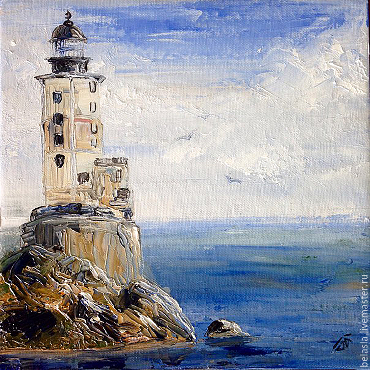 Lighthouse Bay, on. Sakhalin, Russia, oil painting, Pictures, Moscow,  Фото №1