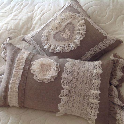 Текстиль, ковры ручной работы. Ярмарка Мастеров - ручная работа. Купить Подушки в стиле Прованс. Handmade. Комбинированный, текстиль для спальни