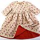 Одежда для девочек, ручной работы. Ярмарка Мастеров - ручная работа. Купить Платье нарядное Красные розочки. Handmade. Бежевый