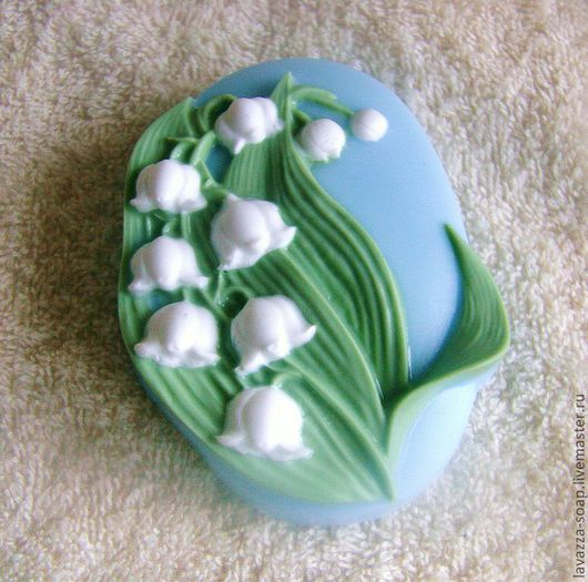 Мыло ручной работы. Ярмарка Мастеров - ручная работа. Купить Мыло Ландыш. Handmade. Салатовый, цветок, 8 марта