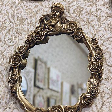 Для дома и интерьера ручной работы. Ярмарка Мастеров - ручная работа Зеркало Золотой ангел. Handmade.
