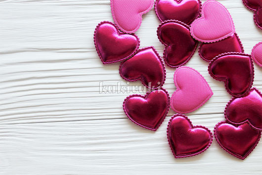 Шитье ручной работы. Ярмарка Мастеров - ручная работа. Купить Сердце из экокожи. Фуксия. Handmade. Фуксия, повязка на голову