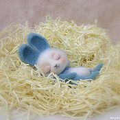 Куклы и игрушки ручной работы. Ярмарка Мастеров - ручная работа Зайчик Сплюшка. Handmade.