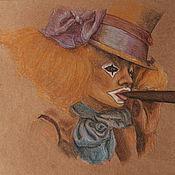 Картины и панно ручной работы. Ярмарка Мастеров - ручная работа Рисунок карандашом Клоунесса. Handmade.
