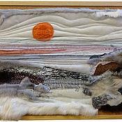 Картины и панно ручной работы. Ярмарка Мастеров - ручная работа панно Северный пейзаж. Handmade.
