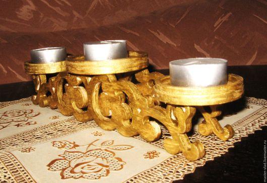 Подсвечники ручной работы. Ярмарка Мастеров - ручная работа. Купить Подсвечник на три свечи. Handmade. Подсвечник, подарок, подарок мужчине