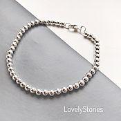 handmade. Livemaster - original item Bracelet Track with small metal beads on chain. Handmade.