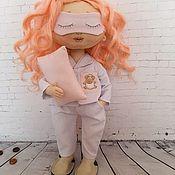 Портретная кукла ручной работы. Ярмарка Мастеров - ручная работа Кукла в пижаме Милана. Handmade.