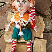 Куклы и игрушки ручной работы. Ярмарка Мастеров - ручная работа кукла Буратино(по мотивам). Handmade.