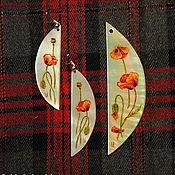 """Украшения ручной работы. Ярмарка Мастеров - ручная работа """"Маково поле"""" (готовая работа) - перламутровый комплект. Handmade."""