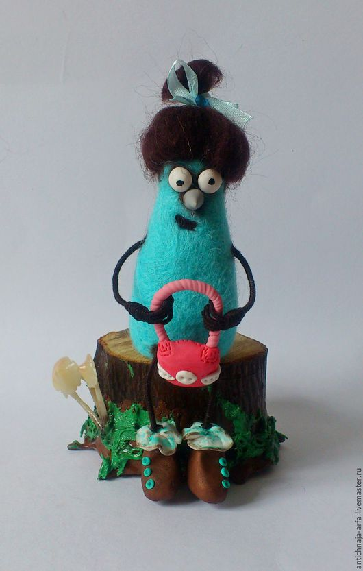 Сказочные персонажи ручной работы. Ярмарка Мастеров - ручная работа. Купить Мымра. Handmade. Мятный, подарок, лесные жители, пенек