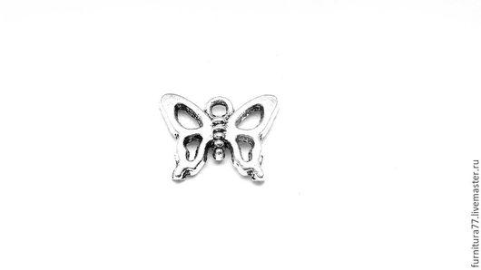 Для украшений ручной работы. Ярмарка Мастеров - ручная работа. Купить Подвеска Бабочка- 4 серебро. Handmade. Подвеска бабочка