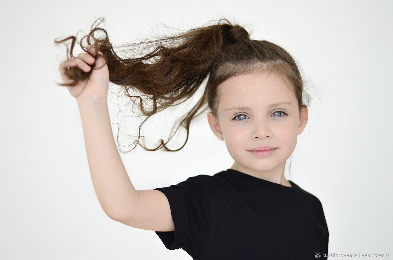 Детская базовая трикотажная футболка черная, Футболки, Челябинск,  Фото №1