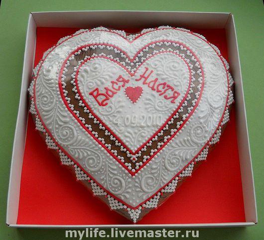 пример пряника по индивидуальному заказу - сердце 20 см