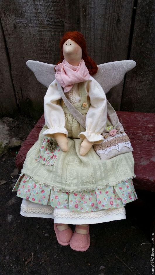 Куклы Тильды ручной работы. Ярмарка Мастеров - ручная работа. Купить Феечка в стиле  бохо для Светланы. Handmade. Фея, салатовый