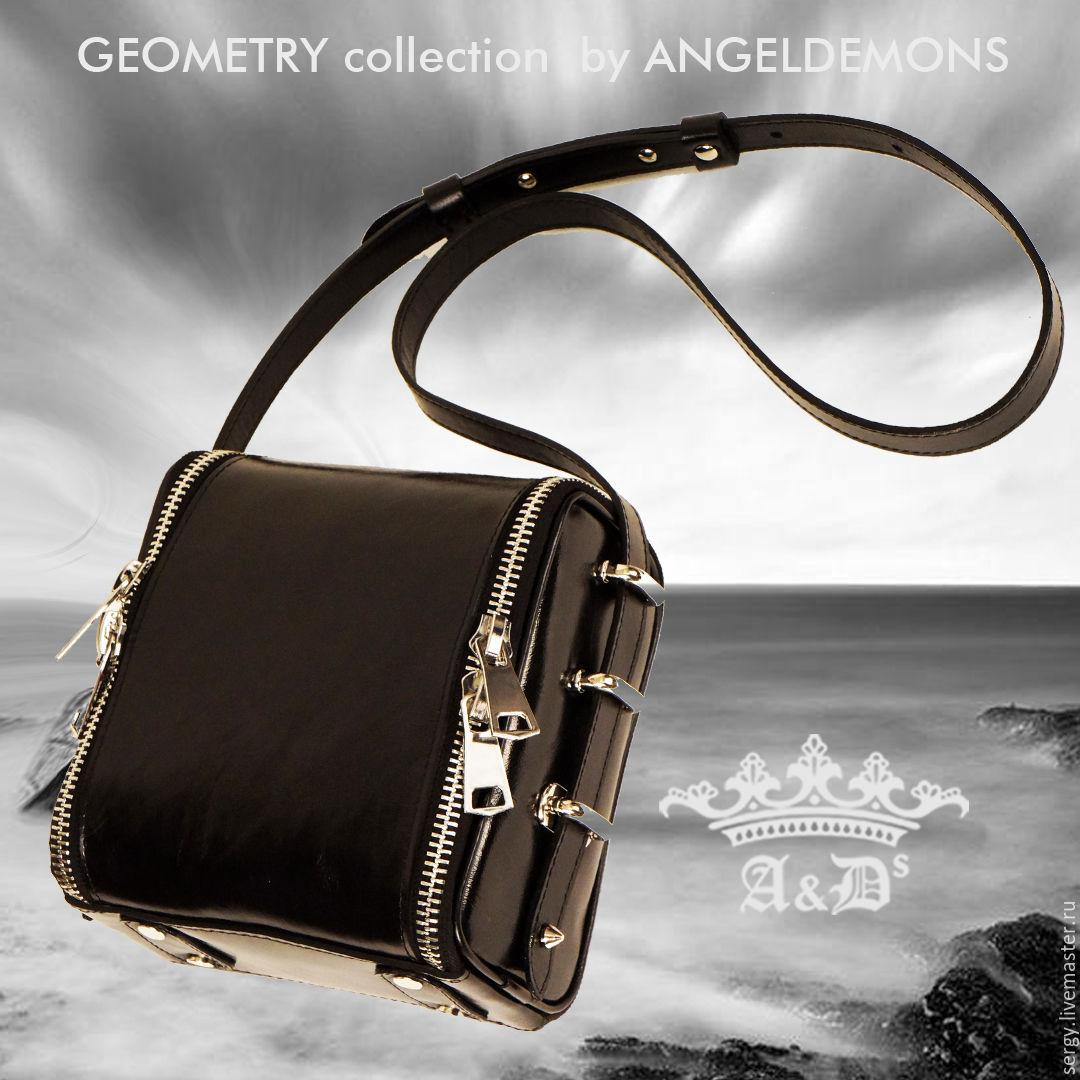 0cd07c19f618 Женские сумки ручной работы. Ярмарка Мастеров - ручная работа. Купить Сумка  Cube Black.