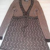 Винтаж handmade. Livemaster - original item Stylish dress,wool acrylic,vintage Italy,size 50. Handmade.