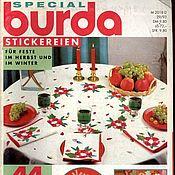"""Схемы для вышивки ручной работы. Ярмарка Мастеров - ручная работа Журнал Burda SPECIAL""""Вышивка"""", 1993 г.. Handmade."""