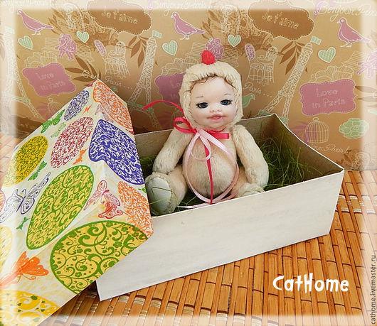 Коллекционные куклы ручной работы. Ярмарка Мастеров - ручная работа. Купить Тедди-долл Цыплёнок. Handmade. Тедди-долл