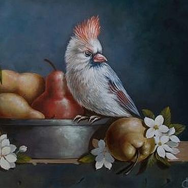 Картины и панно ручной работы. Ярмарка Мастеров - ручная работа натюрморт с грушами. Handmade.