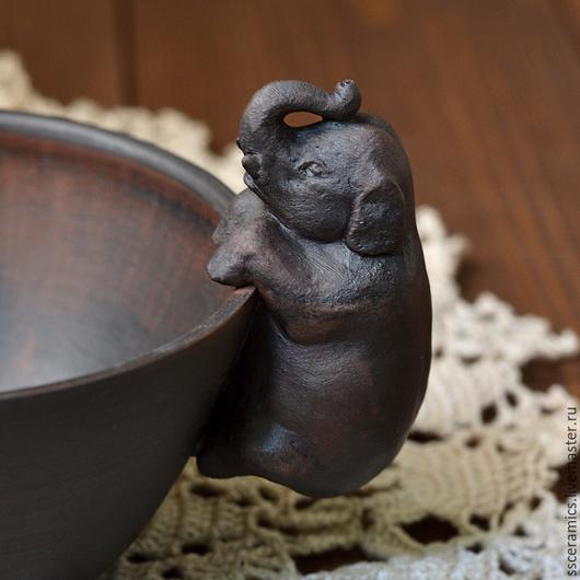 """Кружки и чашки ручной работы. Ярмарка Мастеров - ручная работа. Купить Кружка """"Слон"""". Handmade. Коричневый, пиала со слоном"""
