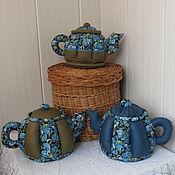 Для дома и интерьера ручной работы. Ярмарка Мастеров - ручная работа Чайник-шкатулка из ткани. Handmade.