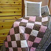"""Для дома и интерьера ручной работы. Ярмарка Мастеров - ручная работа Лоскутный набор """"Тепло шоколадного и нежность розового"""". Handmade."""