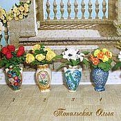 Куклы и игрушки handmade. Livemaster - original item Miniature flowers in vases.. Handmade.