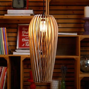 Для дома и интерьера ручной работы. Ярмарка Мастеров - ручная работа Светильник #3 из фанеры серии PARA. Handmade.