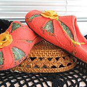 """Обувь ручной работы. Ярмарка Мастеров - ручная работа Тапочки валяные """"Солнечная дача"""". Handmade."""
